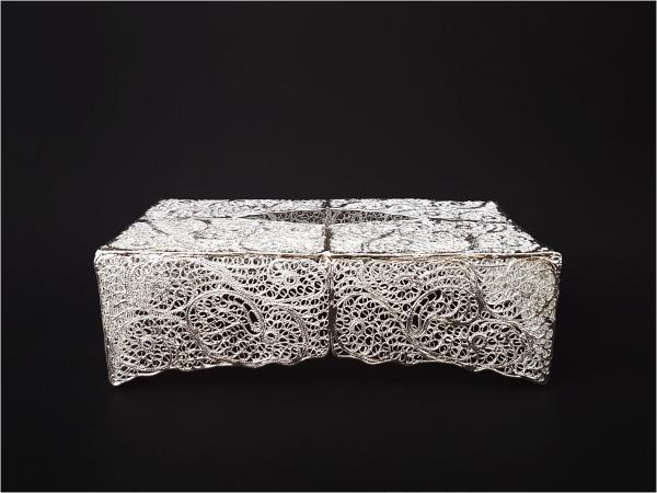 جعبه دستمال کاغذی ملیله اصفهان