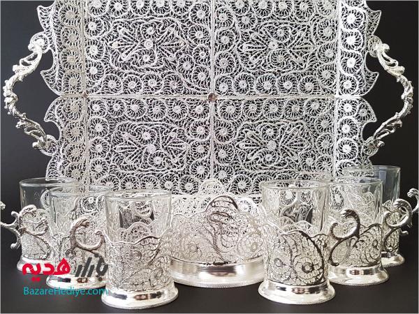 سرویس چای خوری ملیله کاری اصفهان