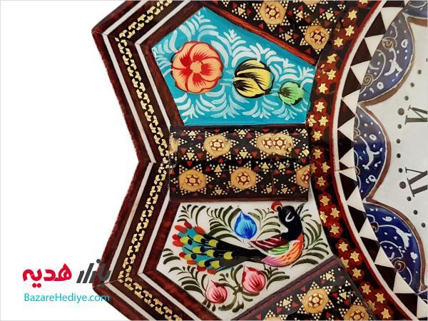 ساعت دیواری میناکاری و خاتم کاری اصفهان
