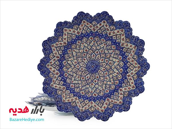 بشقاب میناکاری قطر ۳۰ سانتی اثر شاهین شیرازی