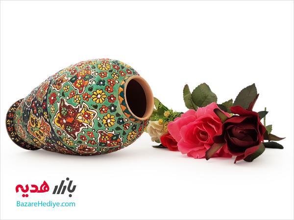 گلدان فانتزی سفالی میناکاری